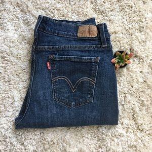 Levi's 515 Boot Cut Dark Wash Jeans Size 10L